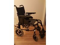Invacare Action 2NG wheelchair transit attendant mobility chair. lightweight RRP: £330