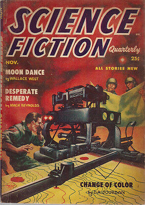 Science Fiction Quarterly November 1954  Kelly Freas Cv