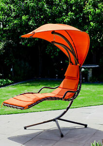 Swing-Chair-Outdoor-Hanging-Chair-Waterproof-Canopy-shade-padded-cushion