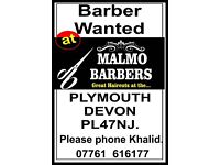 Experianced Barber Required, Plymouth, Devon, PL13HL