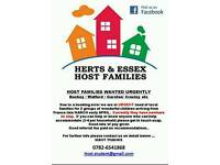 Host Families Needed Urgently