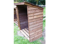 Log Store Timber Wood Shed 4ft x 5ft Pent Roof Collect Only 2 Sutton in Ashfield