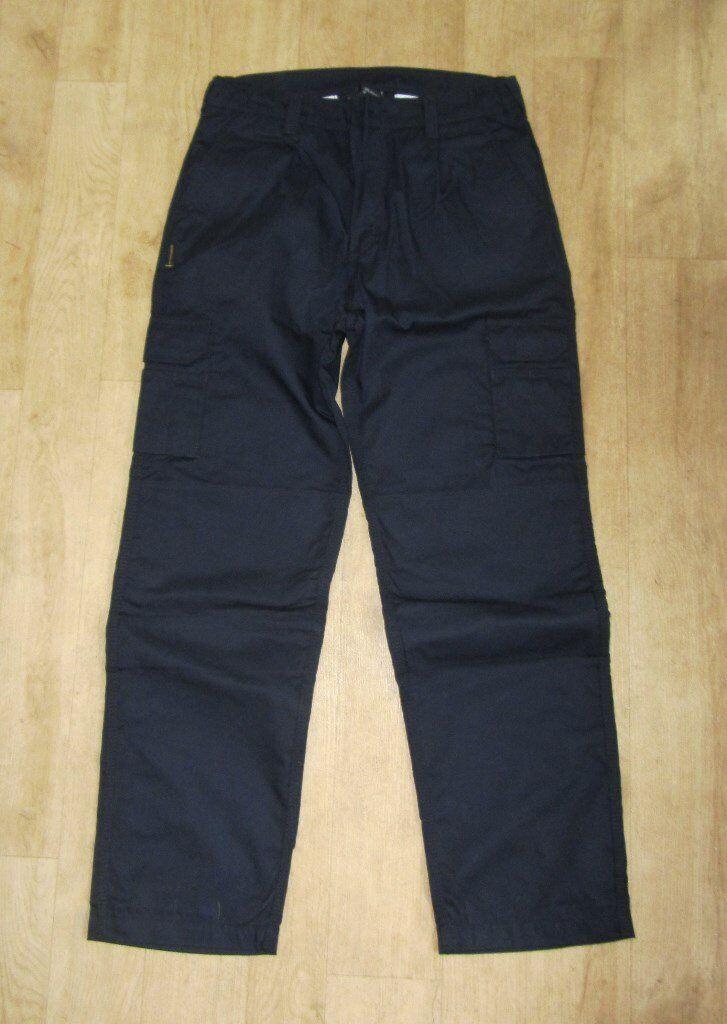 "Cargo Work Trousers - New - 32"" Leg , 34R Waist , Navy Colour"