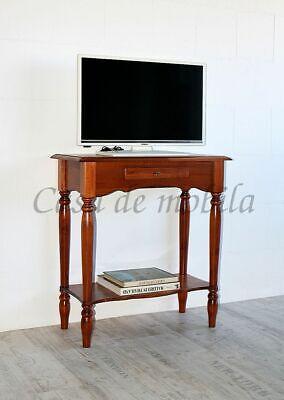 Massivholz TV-konsolentisch kirschfarben gedrechselt Tisch-beine Beistelltisch - Kirsche Wohnzimmer Beistelltisch