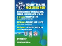 Girls football - players wanted for Wortley Girls FC
