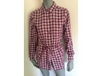 New The North Face Women's Druzhina Woven Squid Red Shirt. Size S.