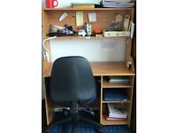 Brown wooden desk. (Must go as soon as possible!) (collection only)