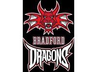 Bradford Dragons v Team Northumbria Sunday 20th November 2016 4.15pm
