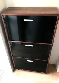 Slim shoe cabinet -perfect for narrow hallway!