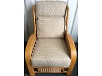 "NEW - CANE RATTAN ARMCHAIR WITH CUSHIONS - FINEST QUALITY 27""W x 36""D x 38""H"