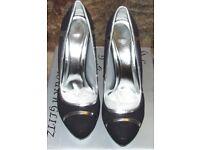 Glamour n Glitz Black High Heels UK 5 BNWB