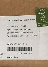 Laura Ashley white shutter blin