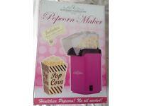 Bright pink gourmet gadgetry popcorn maker