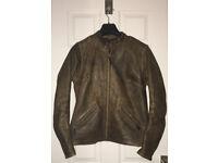 Ladies brown leather Bikers Paradise motorcycle jacket - size 14 - never worn