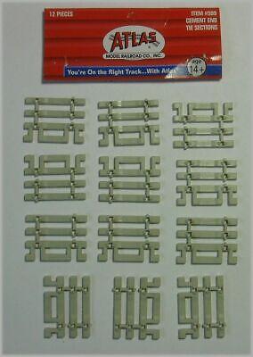 Flex Track End Ties - ATLAS 599 HO Scale Code 83 Track Flex Track End Ties Concrete Qty(12)
