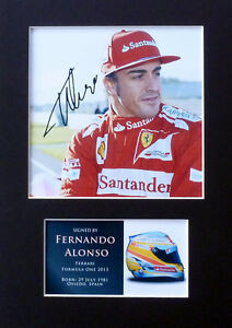 Fernando Alonso F1 Signed Mounted Photo Display Autograph Formula One 2013#1