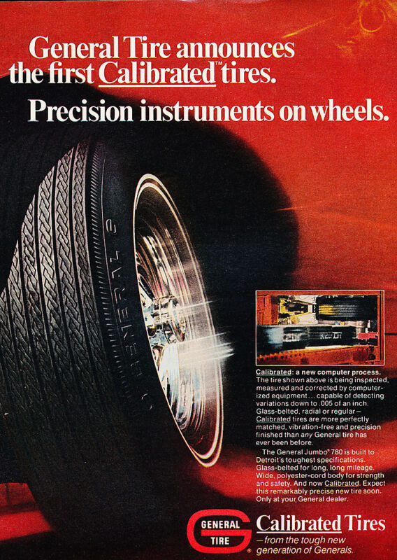 1970 General Tire Calibrated - Original Advertisement Print Ad J129