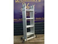 4M multi purpose aluminium folding extension step ladder