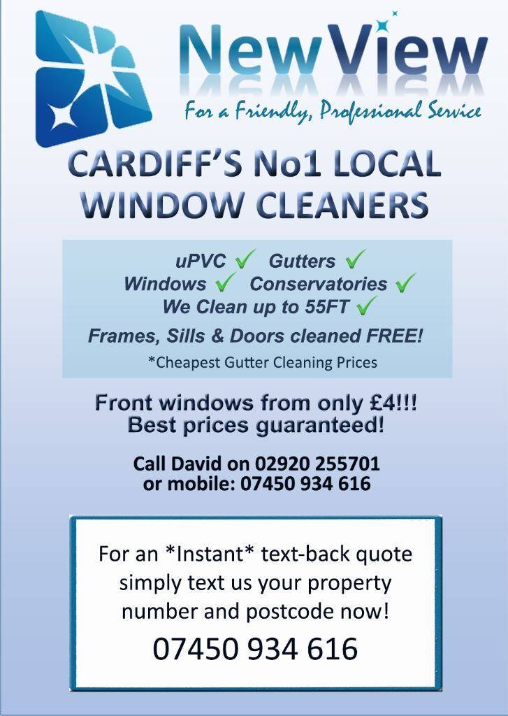 CANTON/ LLANDAFF WINDOW CLEANERS /GUTTER CLEANING SERVICES CARDIFF *ONE OFF CLEANS/ SAME DAY CLEANS*