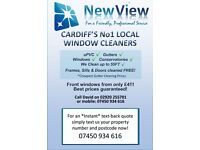 WINDOW CLEANERS /CLEANING /GUTTER CLEANING SERVICES CARDIFF *ONE OFF CLEANS/ SAME DAY CLEANS*