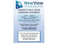 WINDOW CLEANERS /CLEANING /GUTTER CLEANING CARDIFF *ONE OFF CLEANS/ SAME DAY CLEANS*