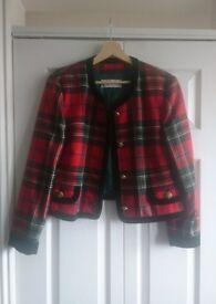 Vintage 80's Tartan Jacket: UK 14