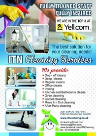 Domestic and Office cleaning. FIRST HOUR HALF PRICE !!! Outstanding quality and Great prices.