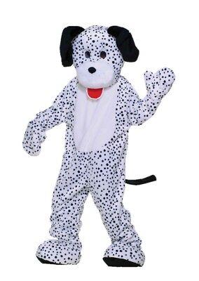 Dalmatian Adult Costume Mascot L-XXL Dog Spots White Black Plush Fun Fur + Size - Dalmatian Adult Costume
