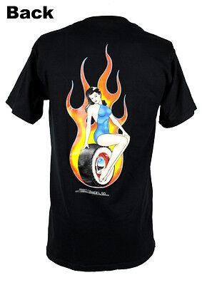 Zombie Hot Rod Custom Pin Up Trophy Girl Weißwandreifen Muscle US Car T- Shirt