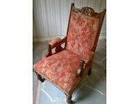 Edwardian Gentleman's/Ladies Chair Mahogany.