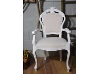 Shabby Chic Distressed French Style Rococo Louis Carver Chair Laura Ashley