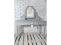 PRETTY VINTAGE ROSE DRESSING TABLE WITH MIRROR