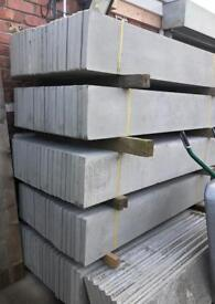 🌲 Concrete Plain Fencing Base Panels/ Gravel Boards