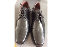 Mens ALL LEATHER Brogue Style Shoes Size 8 1/2