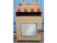 Handmade Wooden Children's Play Oven - Charity