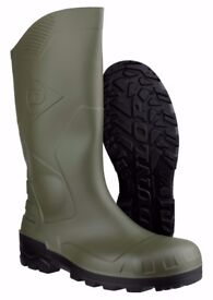 Dunlop Devon Steel Toe Safety Welly Boots - Not Only £16.99