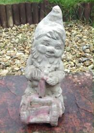 Garden Gnome with Lawn Mower