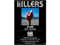 4 x tickets for The Killers & Franz Ferdinand RDS Dublin 26th June 2018