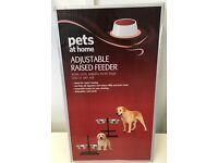 Pet Dogs adjustable raised feeder bowls