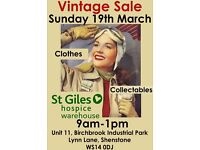 Vintage Sale of Clothes and Collectables