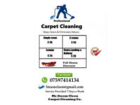 Carpet Deep Cleaned 1 Room £20, 3 Rooms £45, Lounge £25, Stairs&landing £20 Free Quote