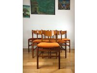 Arch. Ramella Mid Century Set of Six Teak Dining Chairs FREE LOCAL DELIVERY