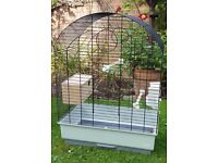Bird cage for parakeets or lovebirds.