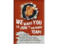 Top North London pub looking for staff to join its Summer team!