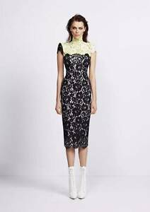 ALEX PERRY 'LILIANA' HIGH NECK LACE DRESS WORN ONCE SIZE 12 Illawong Sutherland Area Preview