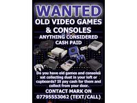 WANTED - Cash paid for old retro games and consoles