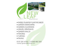NEW LEAF GARDENS (garden makeovers,paving ,driveways,turfing,fencing,garden tidy ups )