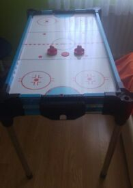 "Stats 36"" 4 in 1 Game Table, Air Hockey, Table Tennis, Shuffleboard & Basketball"