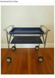 Vintage Mid Century Blue OXO 4485 Model Computer Or Drinks Trolley by Antonio Citterio for KARTELL