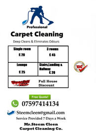 Carpet Deep Cleaned single room £20. Three Rooms £45 Free Quote